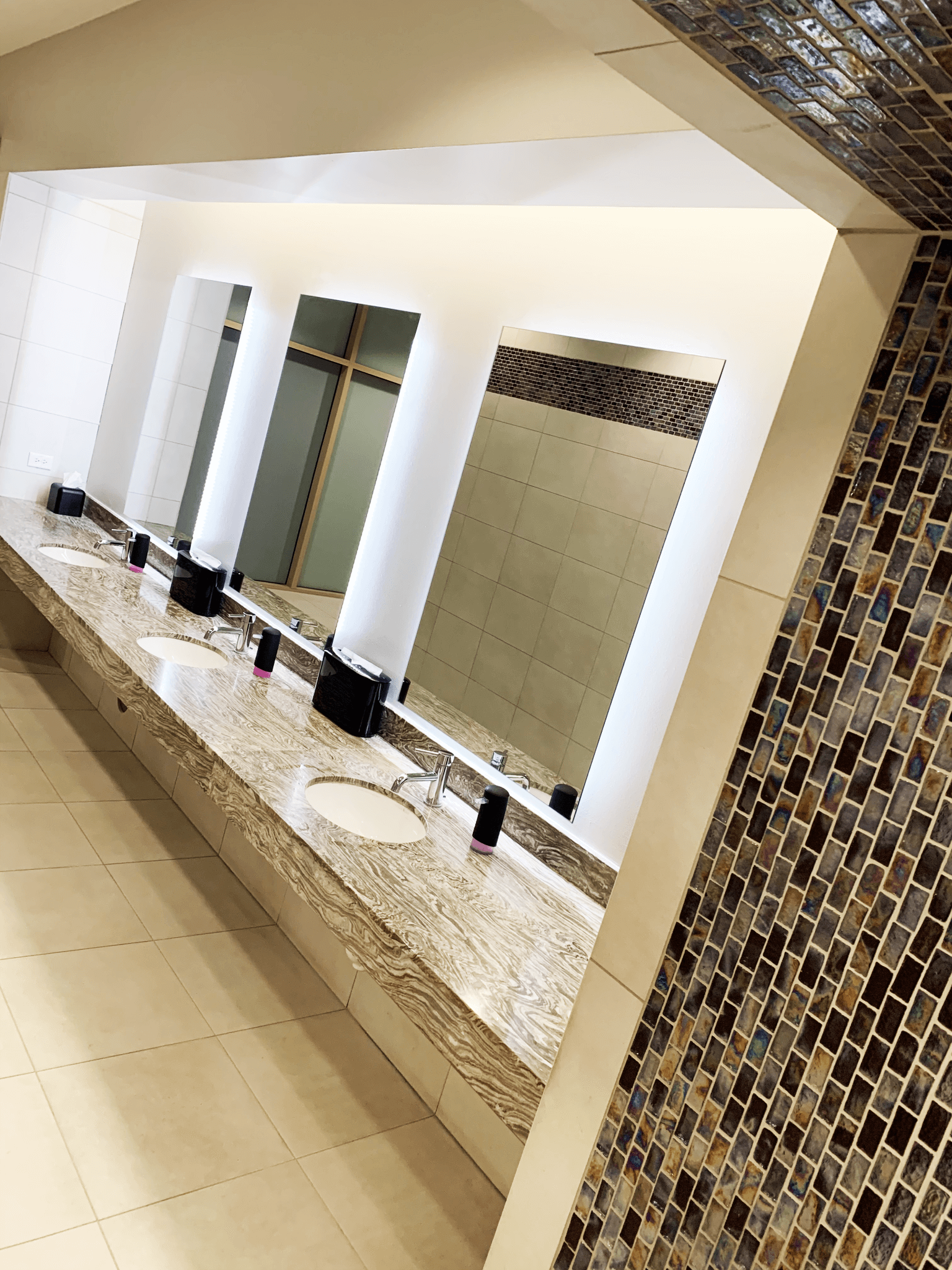 Bathroom shot at Willow Bend Fitness Club, a West Plano Gym.